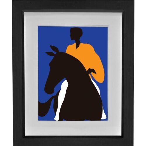 BWD_Horse lady_A2_black